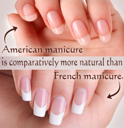 American and French Manicure
